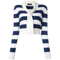 Dolce & Gabbana Suéter De Seda E Cashmere Listrado - Neutro