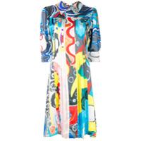 Charles Jeffrey Loverboy Printed Silk Shirt Dress - Azul
