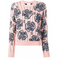 Barrie Suéter Floral - Rosa
