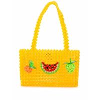 Susan Alexandra Bolsa Tote Healthy Com Contas - Amarelo