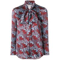 L'autre Chose Blusa De Seda Estampada - Vermelho