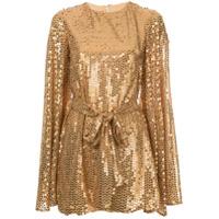 Caroline Constas Vestido Mini Com Paetês - Dourado