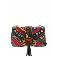 La Carrie Patterned Flap Tote - Preto