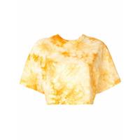 Le Ciel Bleu Camiseta Cropped Tie Dye - Amarelo