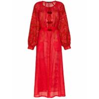 Vita Kin Vestido De Linho - Vermelho