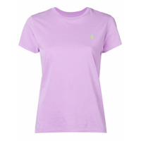 Polo Ralph Lauren Camiseta Decote Careca Com Logo Bordado - Roxo