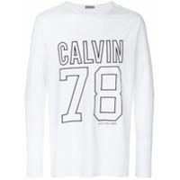 Calvin Klein Jeans Moletom Com Estampa De Logo - Branco