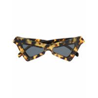 Marni Eyewear Óculos De Sol Geométrico - Marrom