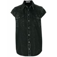 Givenchy Camisa Jeans Mangas Curtas - Preto