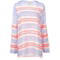 Lemlem Fiesta Stripe Hooded Top - Rosa