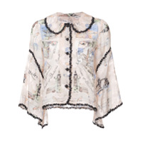 Anna Sui Camisa 'moments Of London' - Rosa