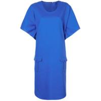 Harvey Faircloth Vestido Midi Oversized - Azul