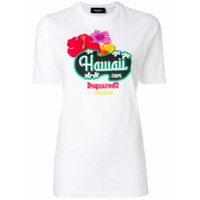 Dsquared2 Camiseta Com Estampa 'hawaii' - Branco