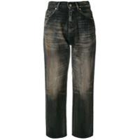Golden Goose Calça Jeans Cintura Alta Cropped - Preto