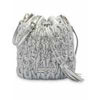 Miu Miu Sequined Bucket Bag - Prateado