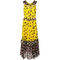 Diane Von Furstenberg Vestido Longo Floral - Amarelo