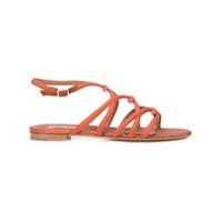 Tabitha Simmons Strappy Flat Sandals - Vermelho