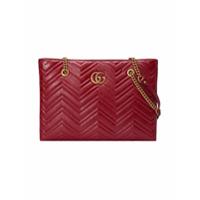 f1c58285e Gucci Bolsa tote matelassê 'GG Marmont' média - Vermelho