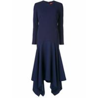 Solace London Vestido Longo Assimétrico - Azul