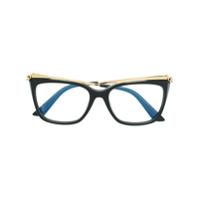 Cartier Armação De Óculos Gatinho - Preto