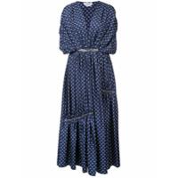 Gabriela Hearst Vestido Winston Com Poás - Azul