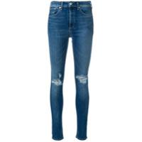 Rag & Bone Calça Jeans Skinny Efeito Desgastado - Azul