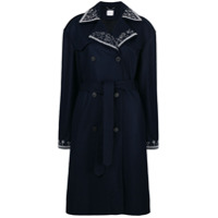 Magda Butrym Double Breasted Trench Coat - Azul