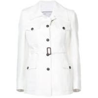 Giuliva Heritage Collection Jaqueta Slim Com Cinto - Branco