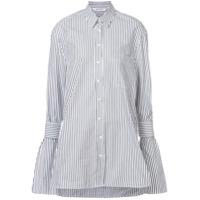 Neil Barrett Camisa Listrada - Branco