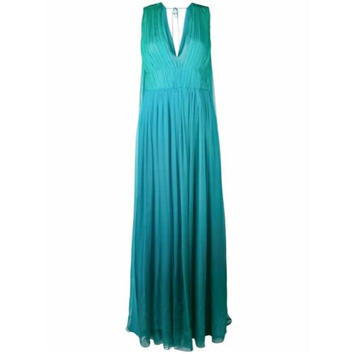Imagem de Alberta Ferretti Vestido sem mangas com franzidos - Azul