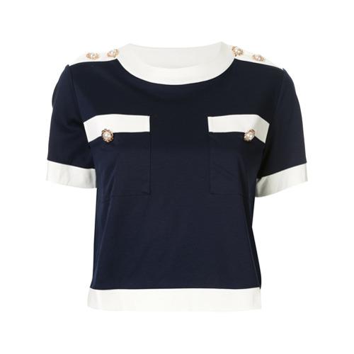 Edward Achour Paris Camisa com aplicação de botões - Azul