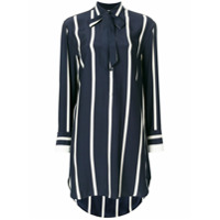 Rag & Bone Camisa Oversized De Seda Listrada - Azul