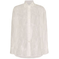 Lvir Sheer Lace Shirt - Branco