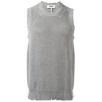 MSGM Colete de tricô - Cinza