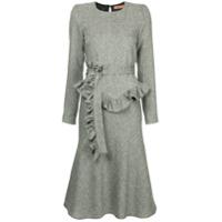 Maggie Marilyn Vestido Midi Com Cinto - Cinza