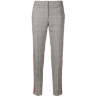Ps Paul Smith Checked Cropped Trousers - Cinza