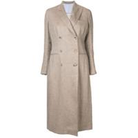Giuliva Heritage Collection Trench Coat De Linho - Marrom