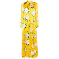 We Are Leone Vestido Longo Floral - Amarelo