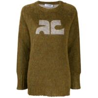 Courrèges Suéter Com Logo Contrastante - Verde