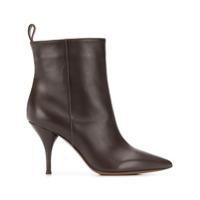 L'autre Chose Ankle Boot Com Salto Agulha - Marrom