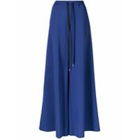 Marni Calça Pantalona Com Ajuste Por Cordão No Cós - Azul