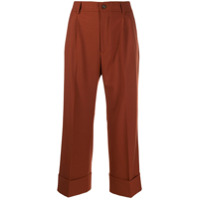 Berwich Cropped Palazzo Trousers - Marrom