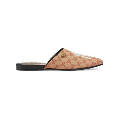 Imagem de Gucci Original GG slippers with NY Yankees™ patch - Neutro