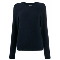 A.p.c. Textured Crew Neck Sweater - Azul
