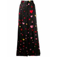 Racil Calça Pantalona Com Estampa De Coração - Preto
