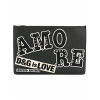 Dolce & Gabbana Clutch 'Amore' de couro - Preto