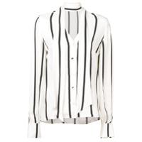 Roqa Camisa Listrada Com Amarração - Branco