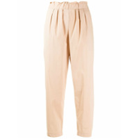 Guardaroba Loose Fit Cropped Trousers - Neutro
