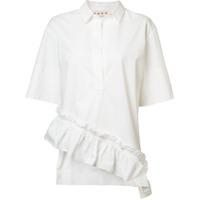 Marni Camisa Assimétrica - Branco