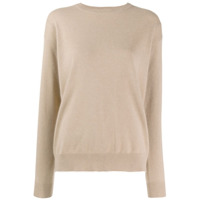Brunello Cucinelli Long-Sleeve Fitted Sweater - Neutro